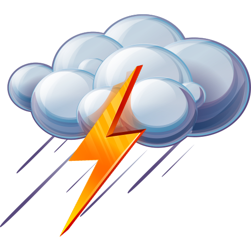 Png picture format. Rain and thunder icon