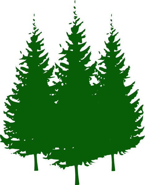 Silhouette of at getdrawings. Png pine trees banner black and white library