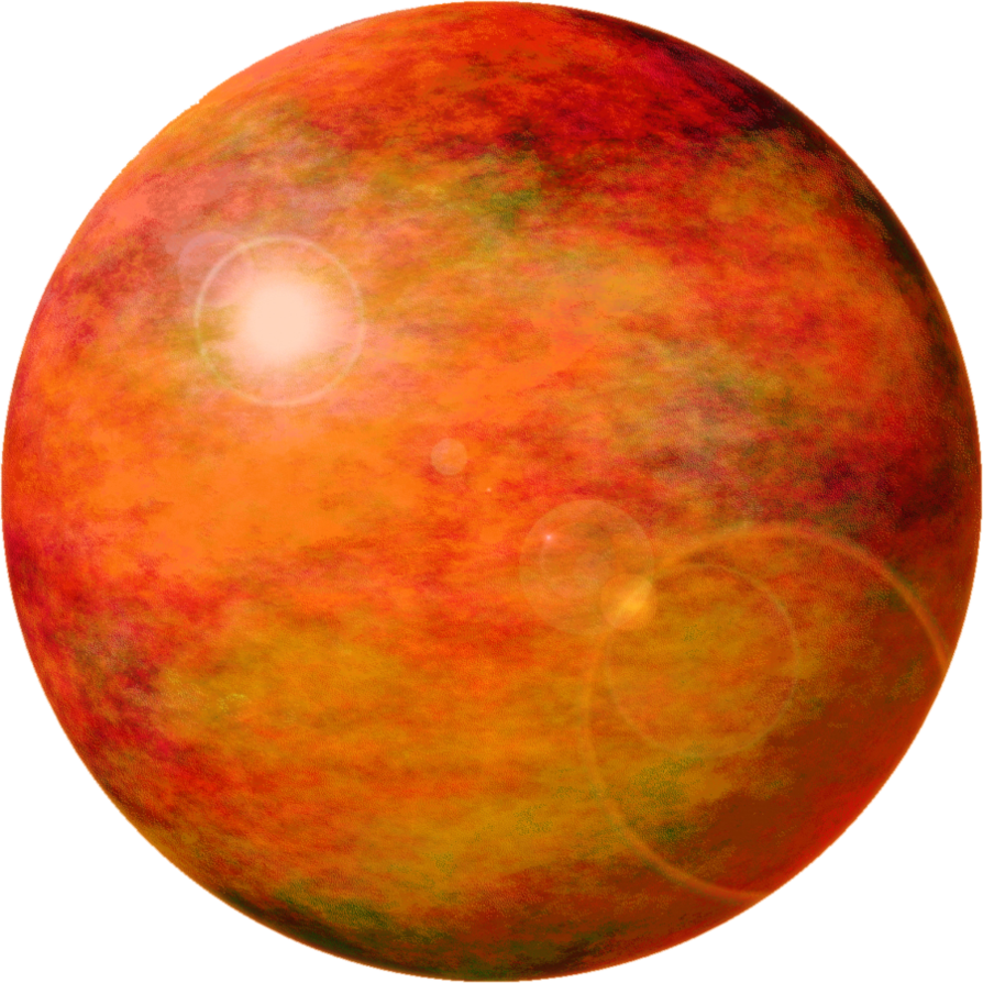 Png planets. Golden planet sun by