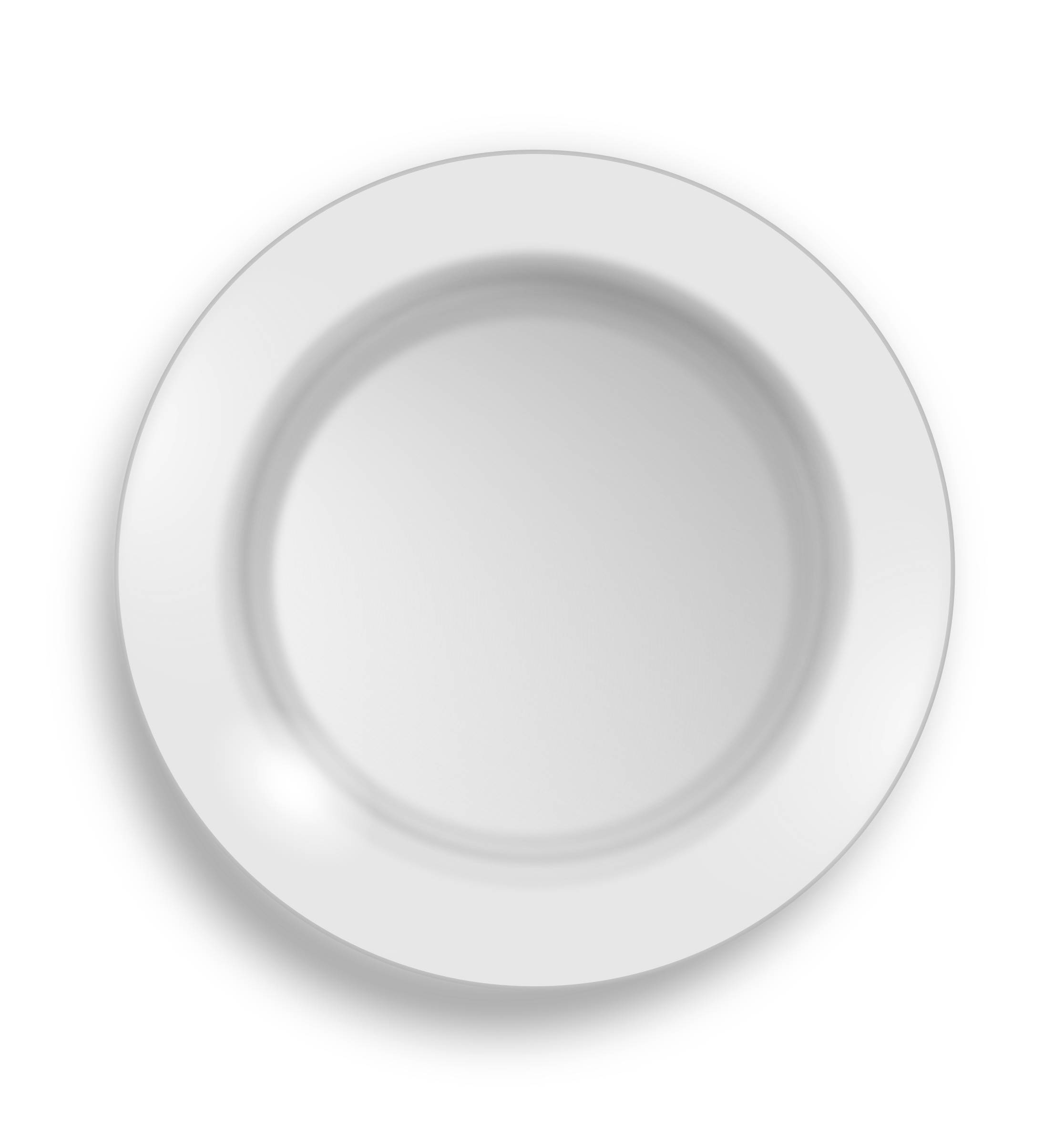 Png plate. Clipart white big image