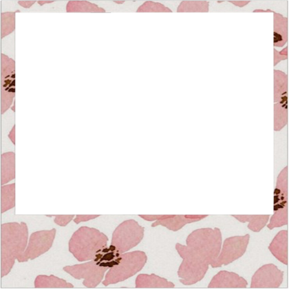 Png polaroid frame. Transparent floral roblox