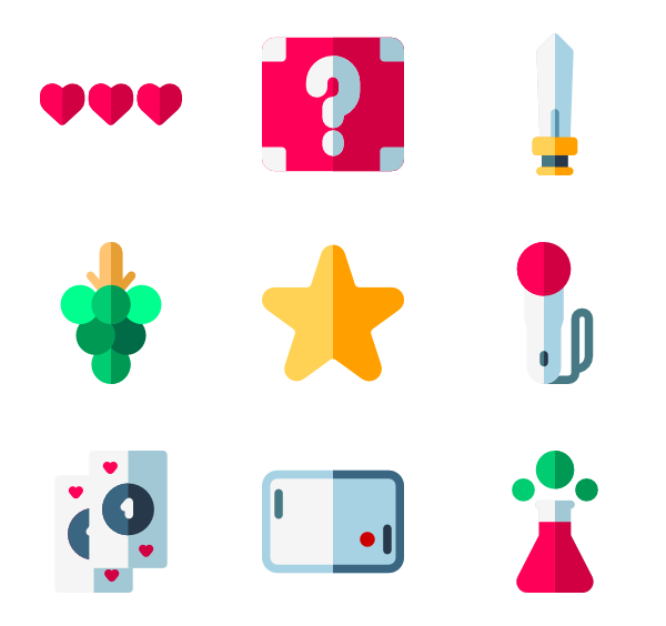 Games vector flat. Puzzle icons free