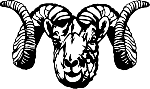 Aries vector black and white. Dall sheep ram clip