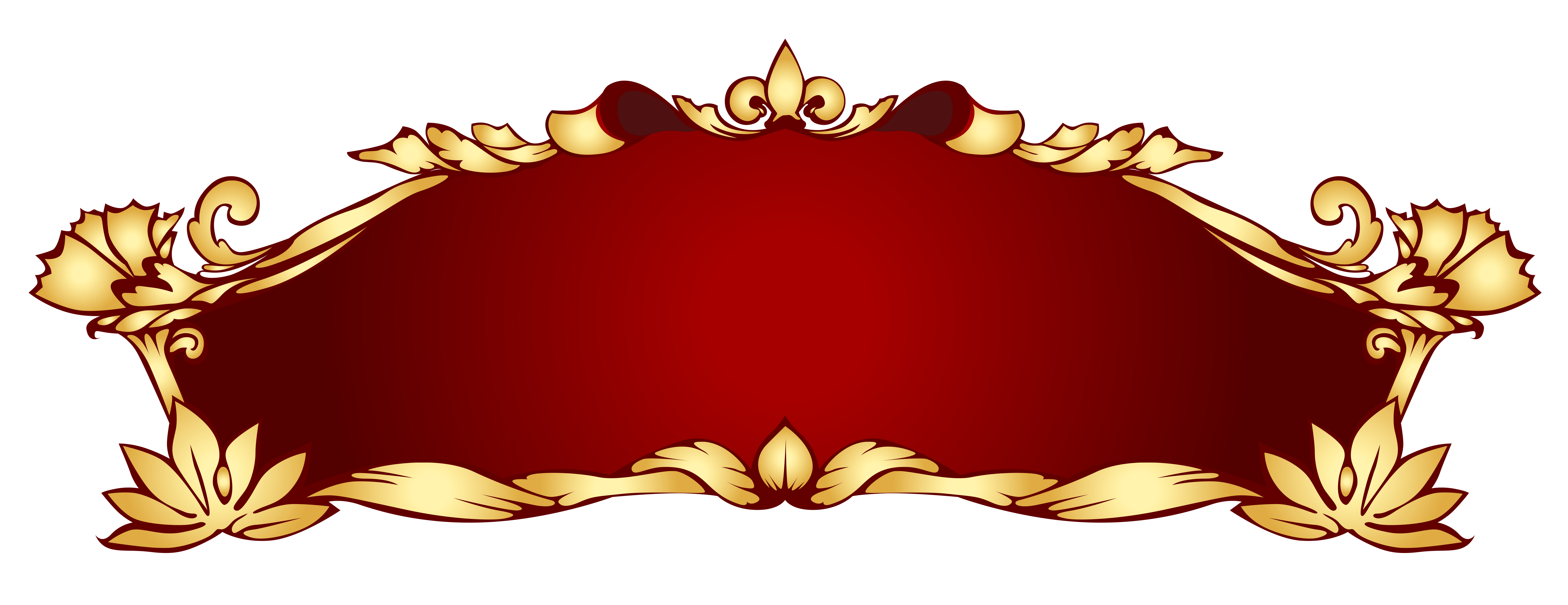 Png red and gold banner. Art nouveau photos