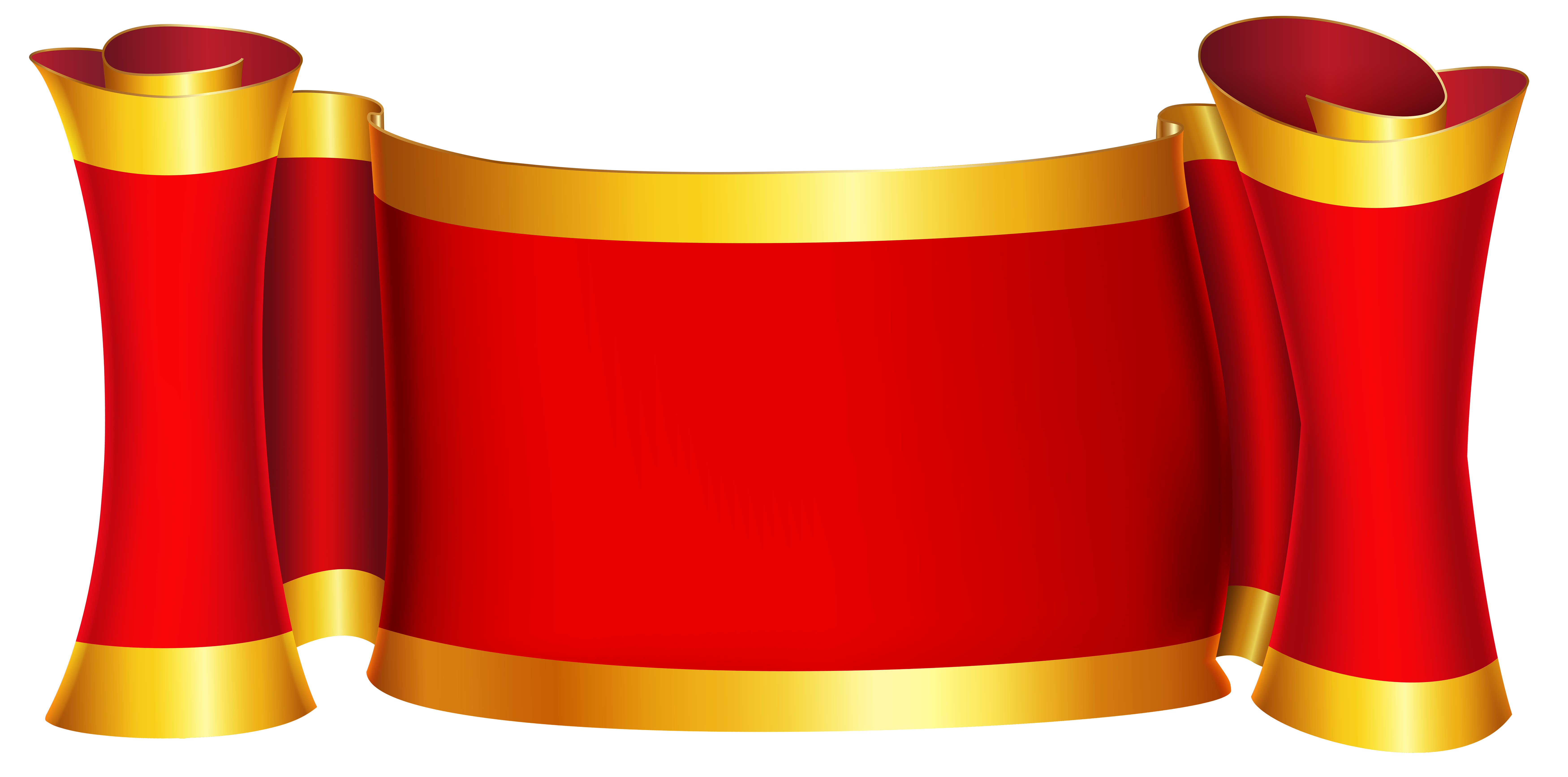 Png red and gold banner. Clip art image gallery