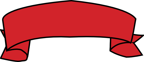 Png red banner. Clipart