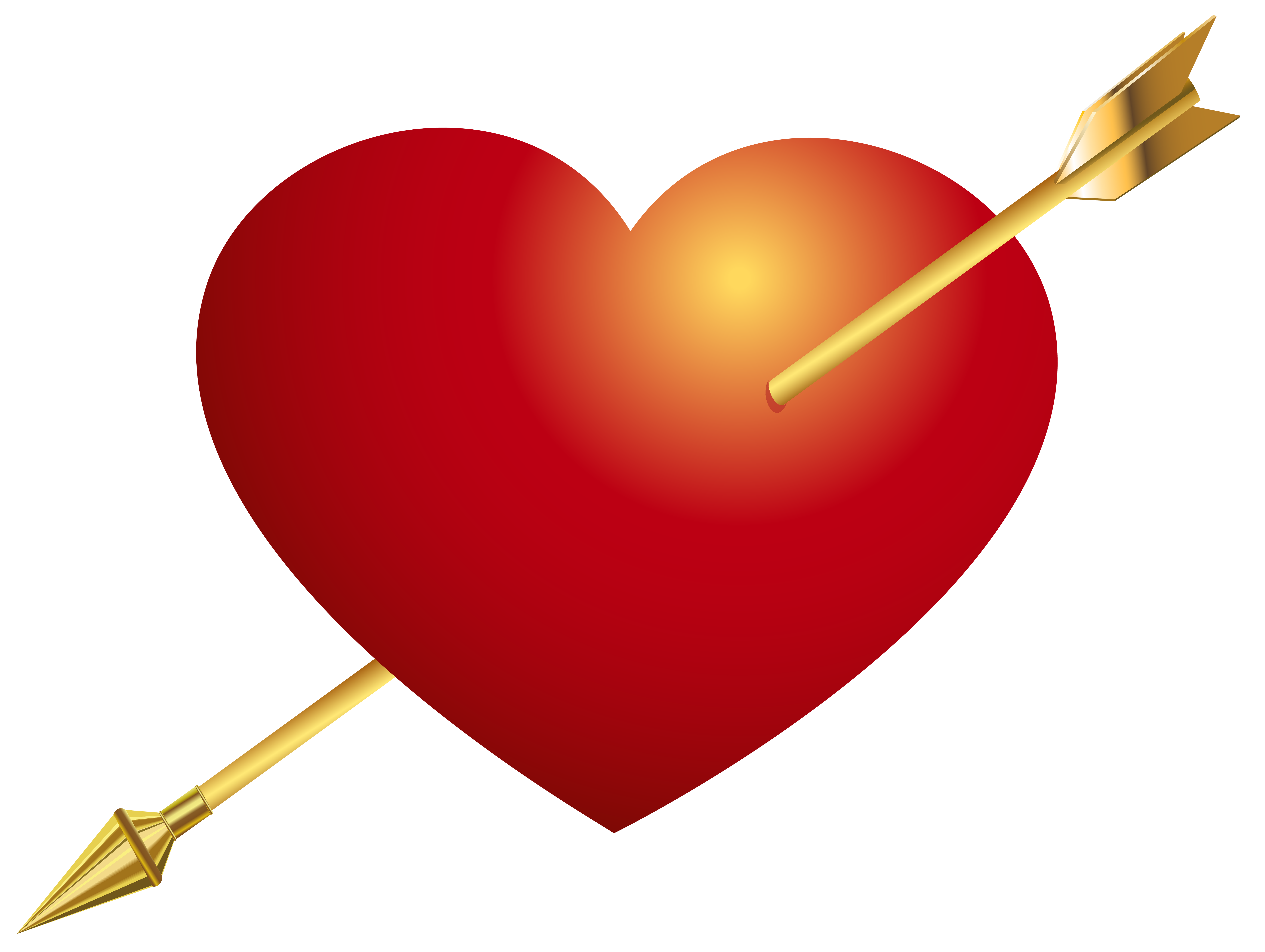 Png red heart. With arrow clip art