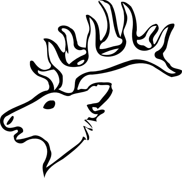 Dear drawing pen. Free reindeer antlers clipart
