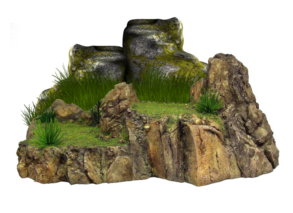 Grassy rock by moonglowlilly. Png rocks graphic download