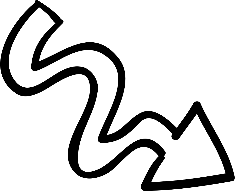 Png scribble. Arrow with svg icon