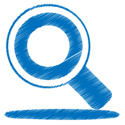 Search png. Blue icon origami colored