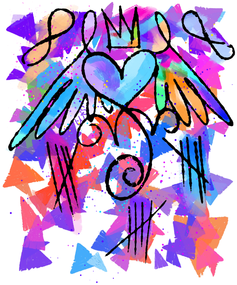 Artsy heart by merch. Png shrink clip art black and white stock