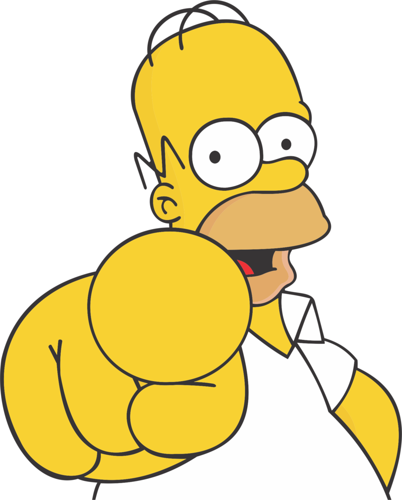 Images free download homer. Png simpsons png black and white download