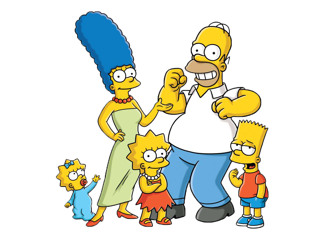 Cartoon characters more photos. Png simpsons black and white download