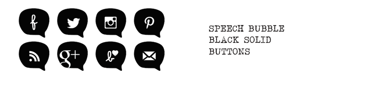 Png social media icons black. Free buttons speech bubbles