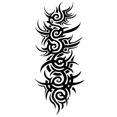 Png spine tattoo. Gothic vertical pinterest and