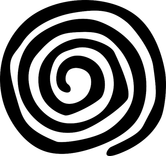 Transparent spiral. The is a symbolic