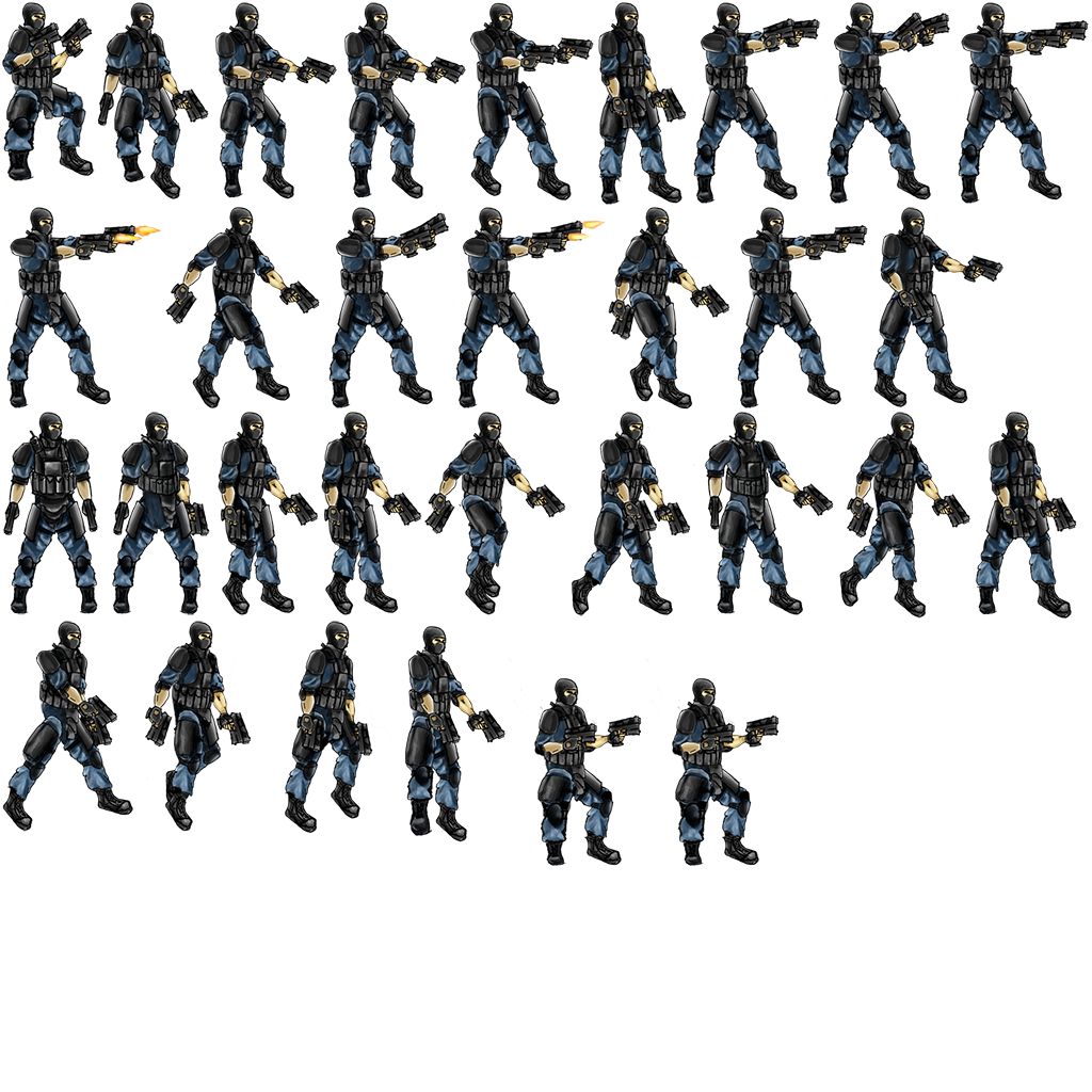 Png to sprite sheet. Cutting sheets into individual
