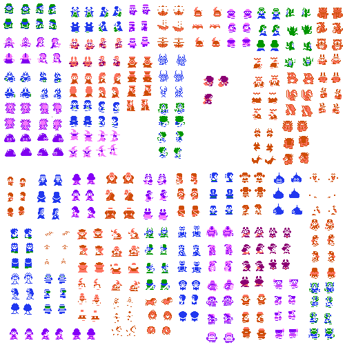 Png sprite sheet with transparency nes. Dragon warrior iv sheets