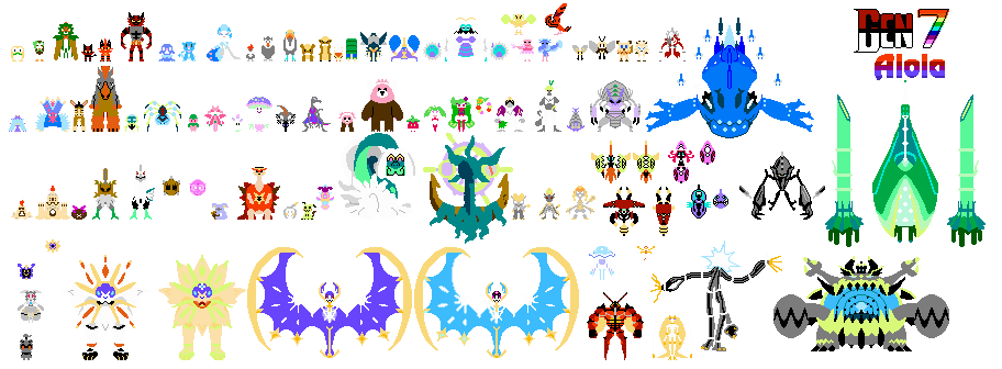 Png sprite sheet with transparency nes. Pokemon generation by auraoftheq
