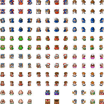 Png sprite sheet with transparency nes. Dragon quest ii sheets