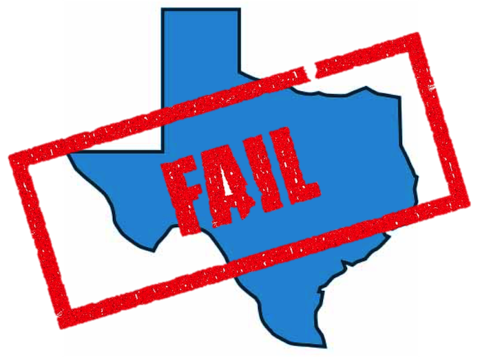 Png state of texas. Scores failing grade in