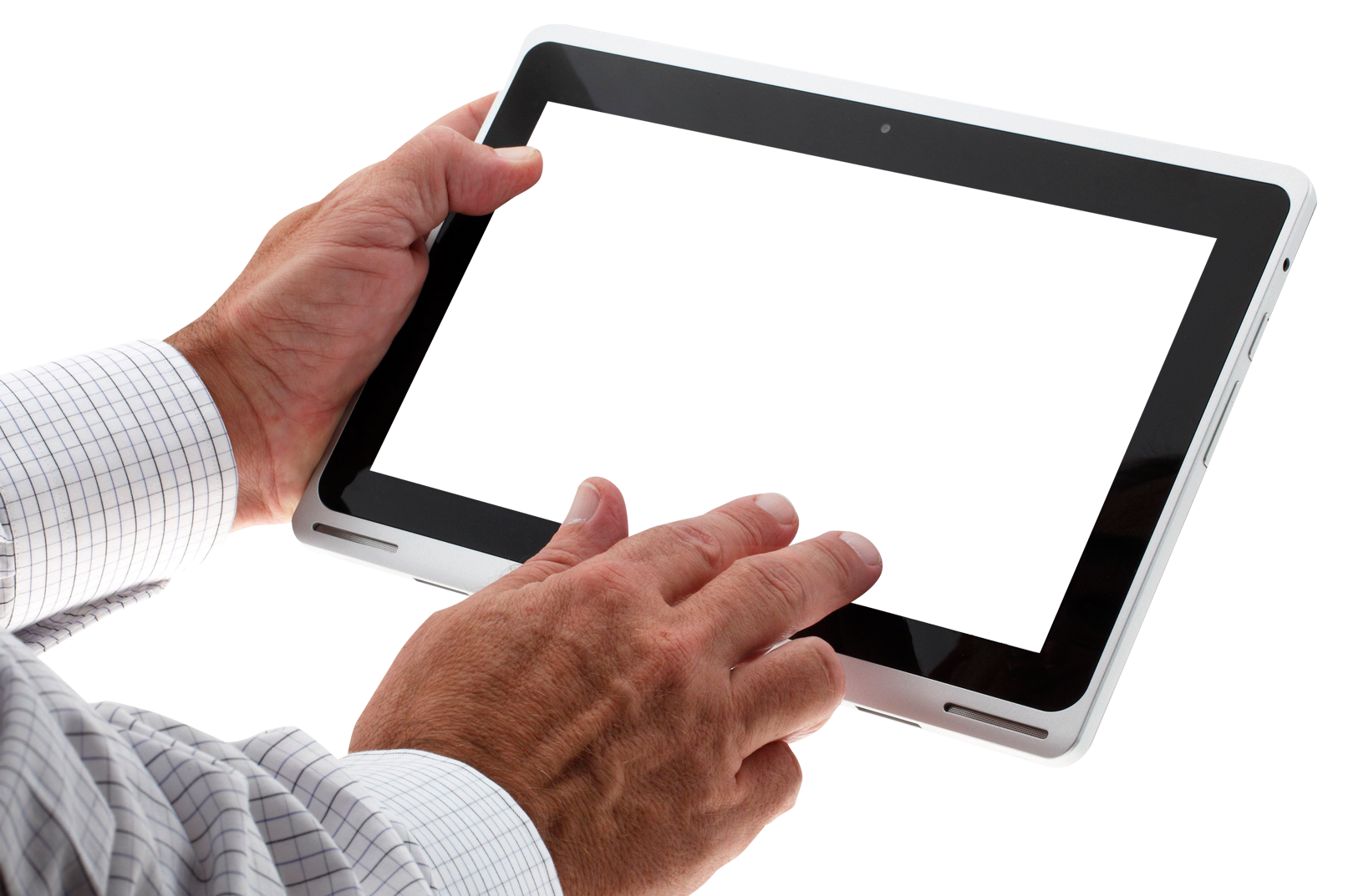 Png tablet. Hand using image purepng