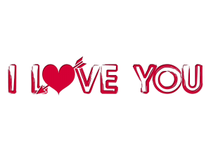 I love you png. Text images free to