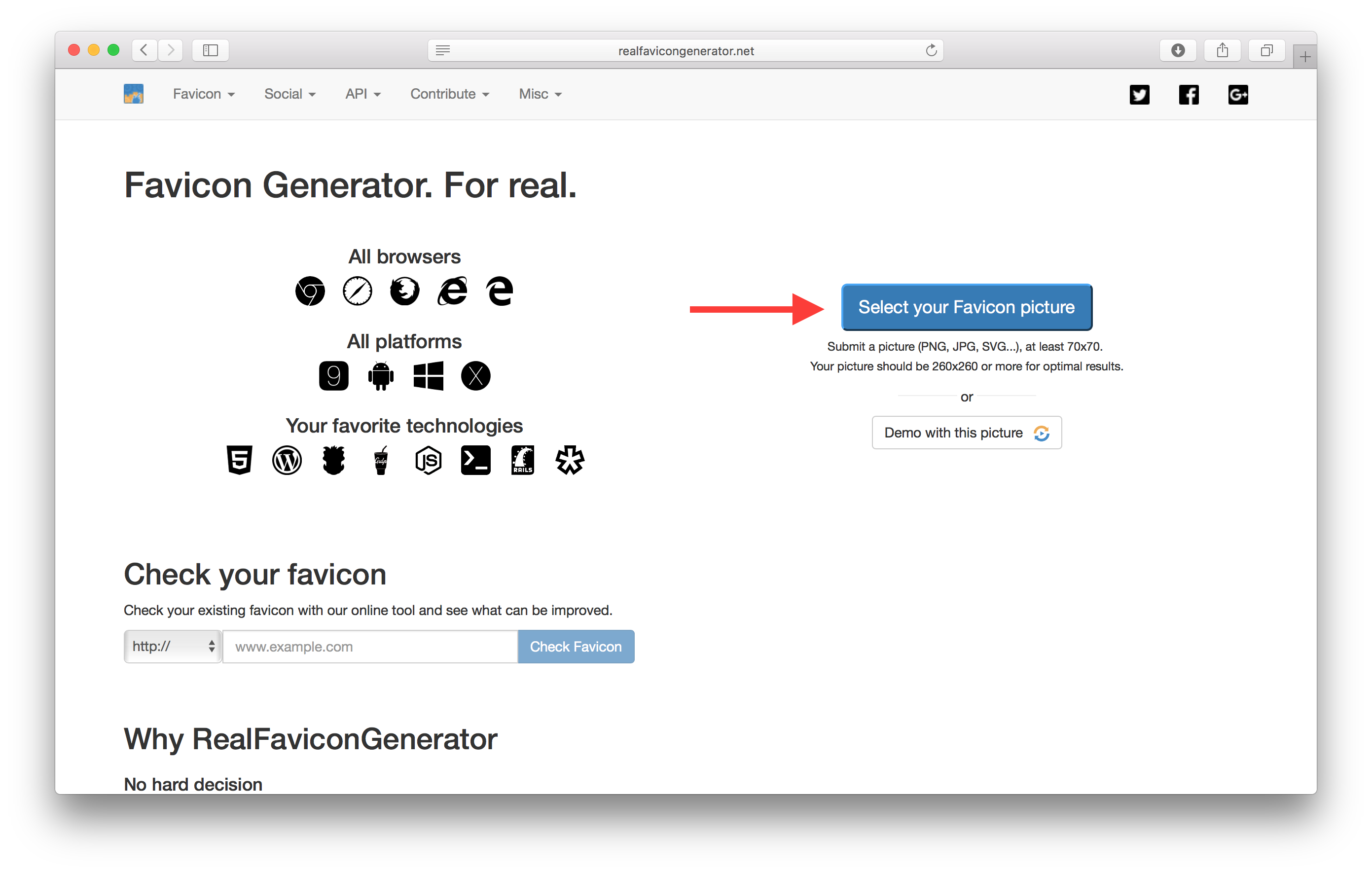 Png to ico converter. Add app favicons serverless