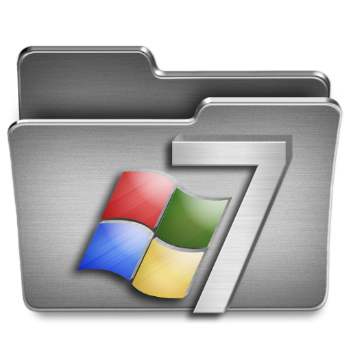 Windows 7 png icons. Icon steel system iconset