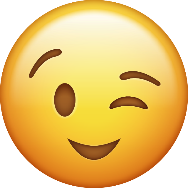 Download Wink Iphone Emoji Icon in JPG and AI