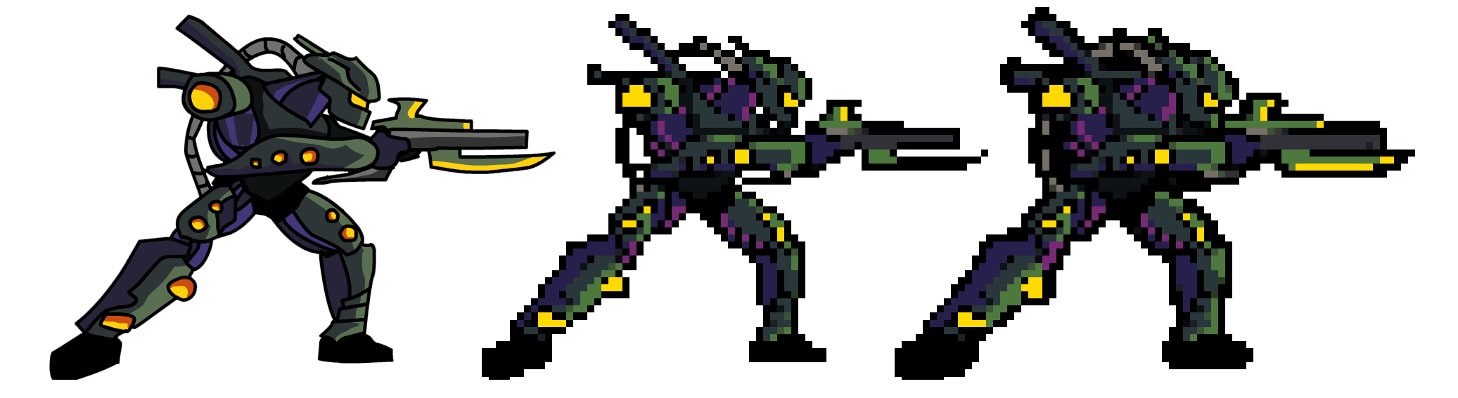 Pixels drawing figure