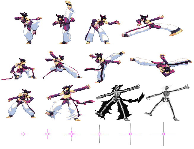 Png to sprite. Juri sheet sf style