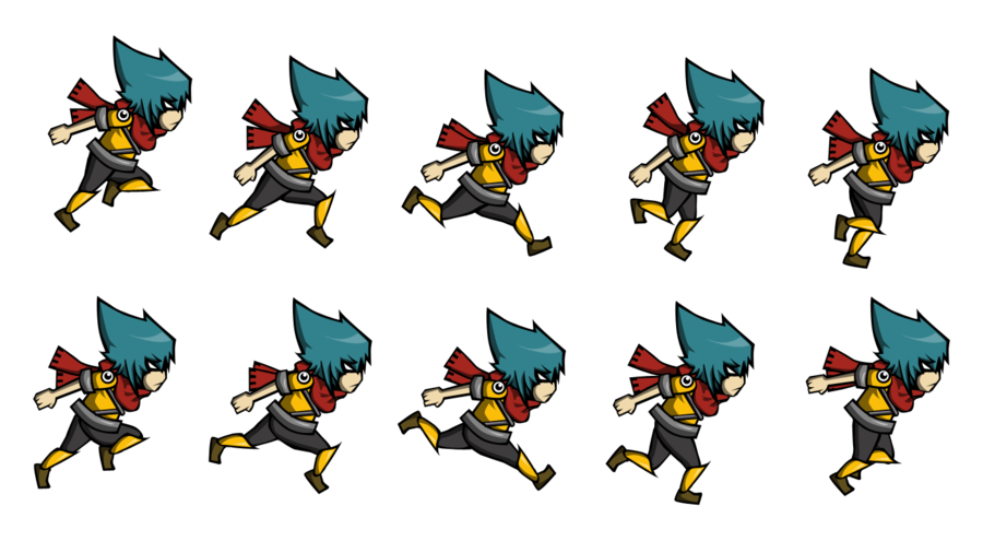 Png to sprite. Volt sheet by kwelfury