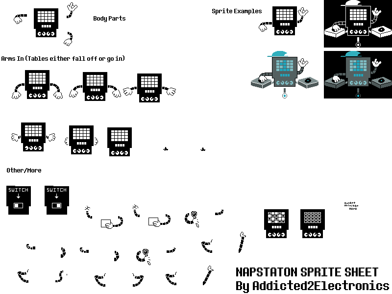 Png to sprite sheet. Image napstaton by addicted