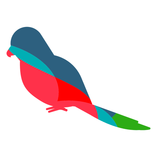 Png to svg color. Parrot abstract transparent vector