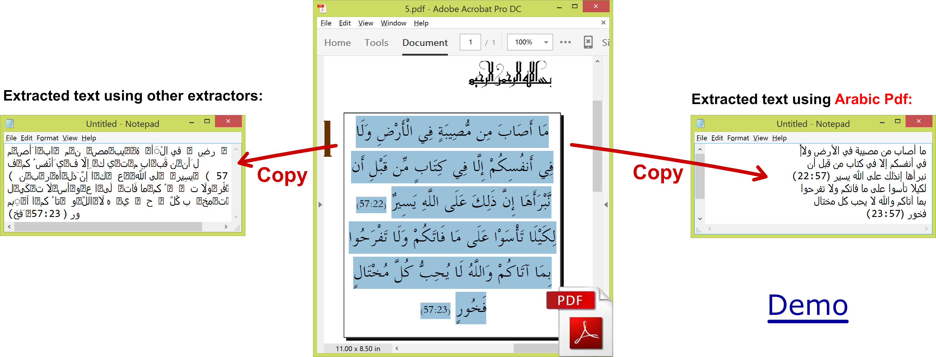 Edit text in png file online. Extract arabic from pdf