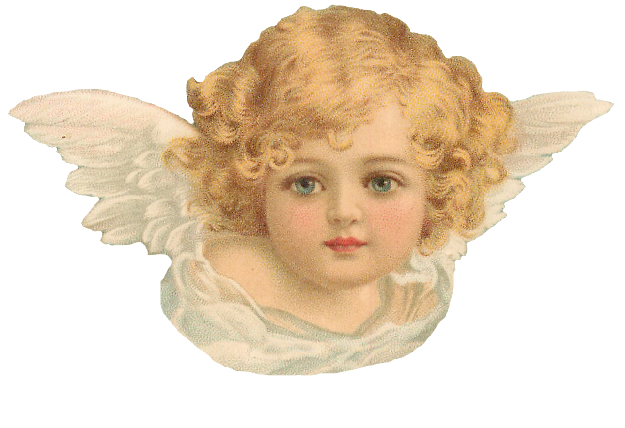 Png transparent angels. Clapsaddle cherubs seamless