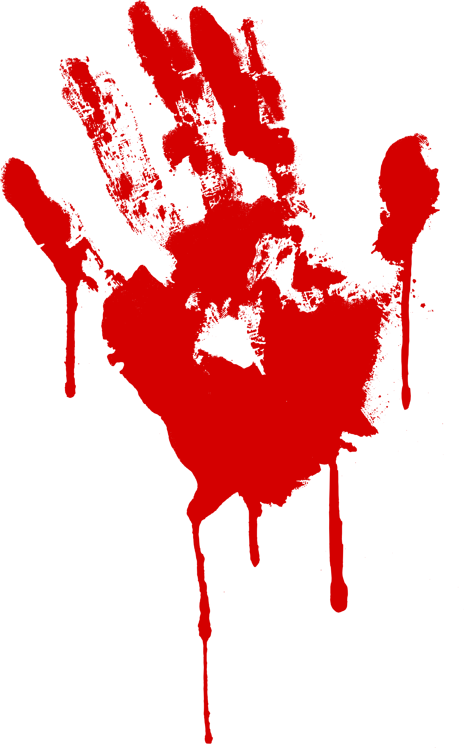 Png transparent background. Bloody hand print with
