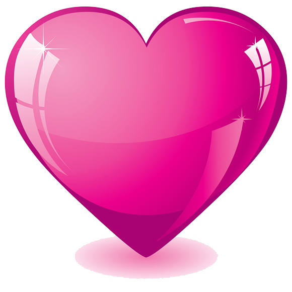 .png transparent background. Hot pink heart png