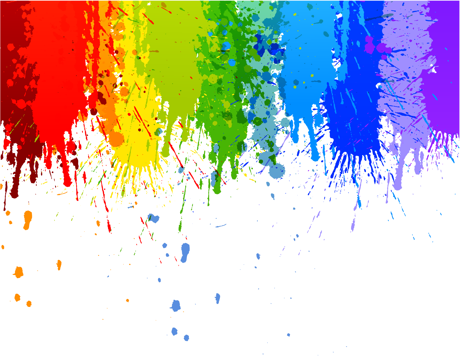 Windows paint png transparent background. Rainbow colour splash drip