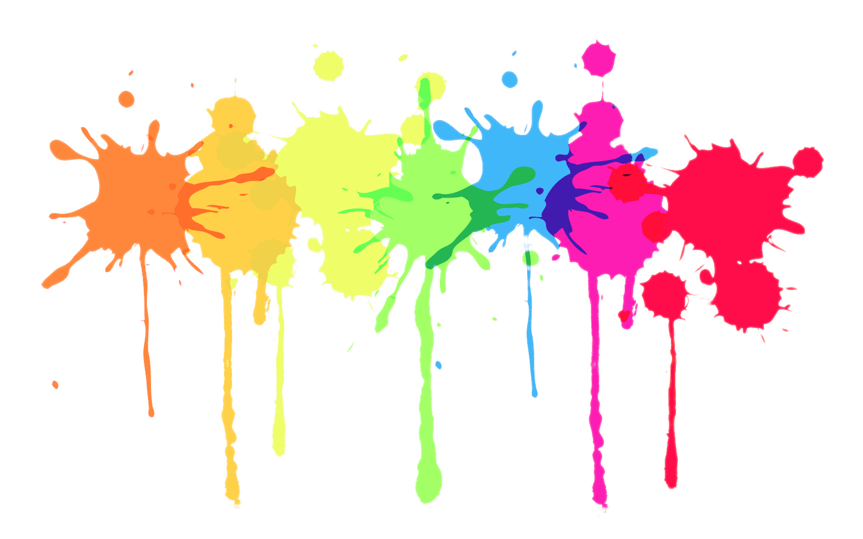 Multicolour splatter transparent stickpng. Paint png banner black and white stock