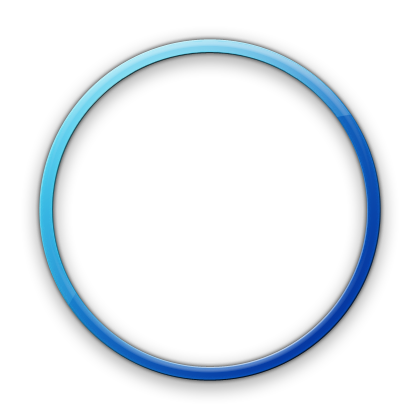 Png transparent circle. Blue geometric icon free