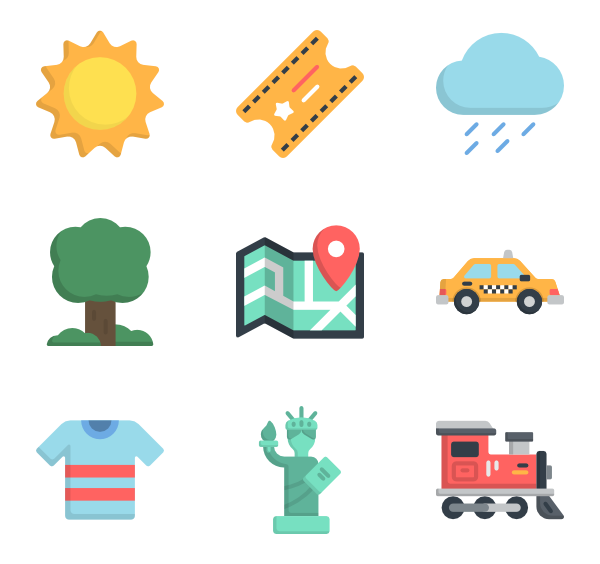 Png travel. Tourism icon packs