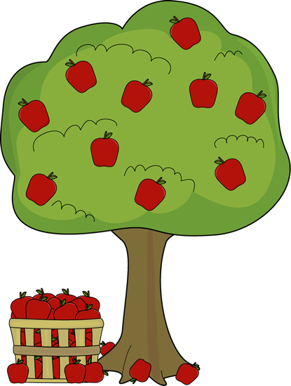 Png tree with apples. Apple basket clipart clip