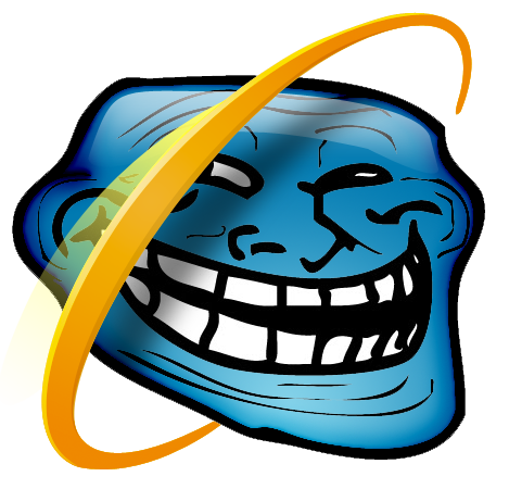 Image internet explorer uncyclopedia. Png troll face image freeuse library