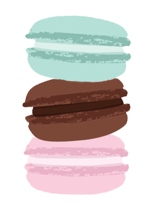 Macaroon drawing wallpaper. Girly tumblr transparents starbucks