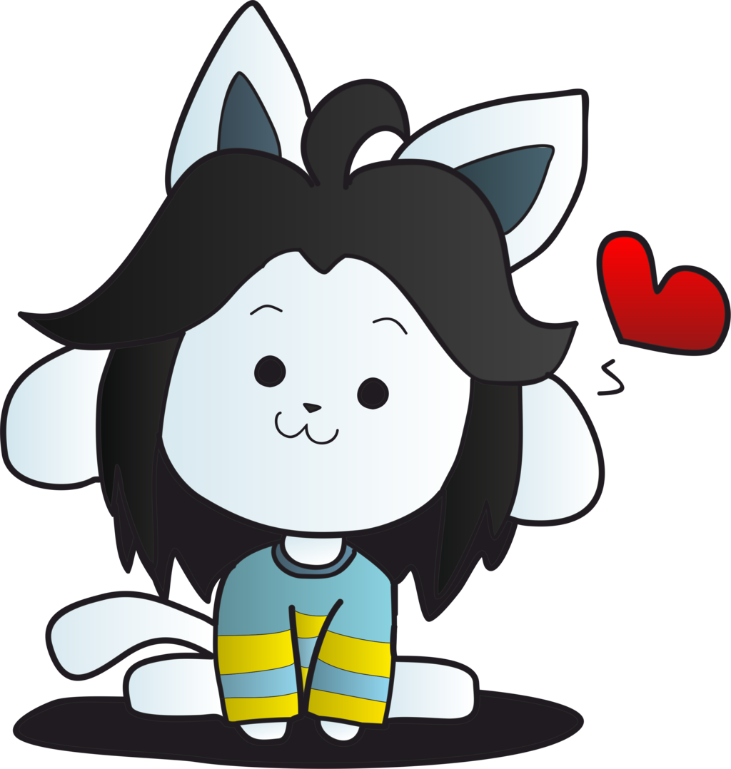Transparent temmie drawing