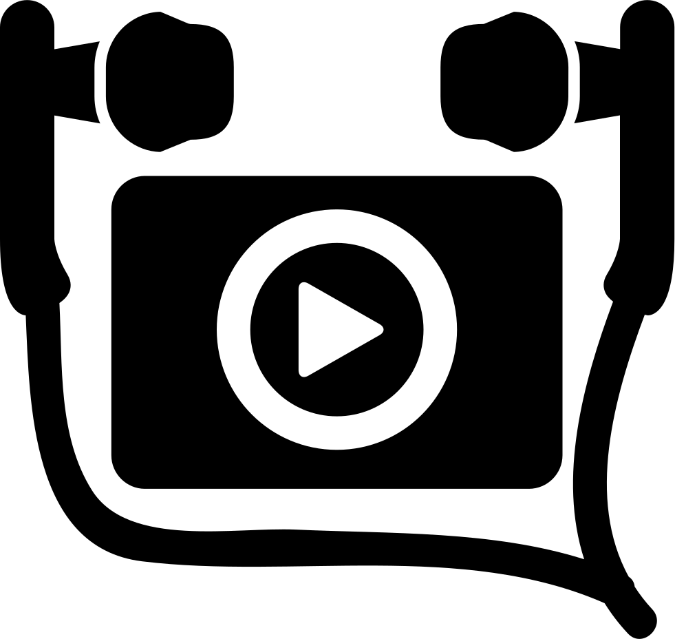 Png video clips download. Listening music clip with