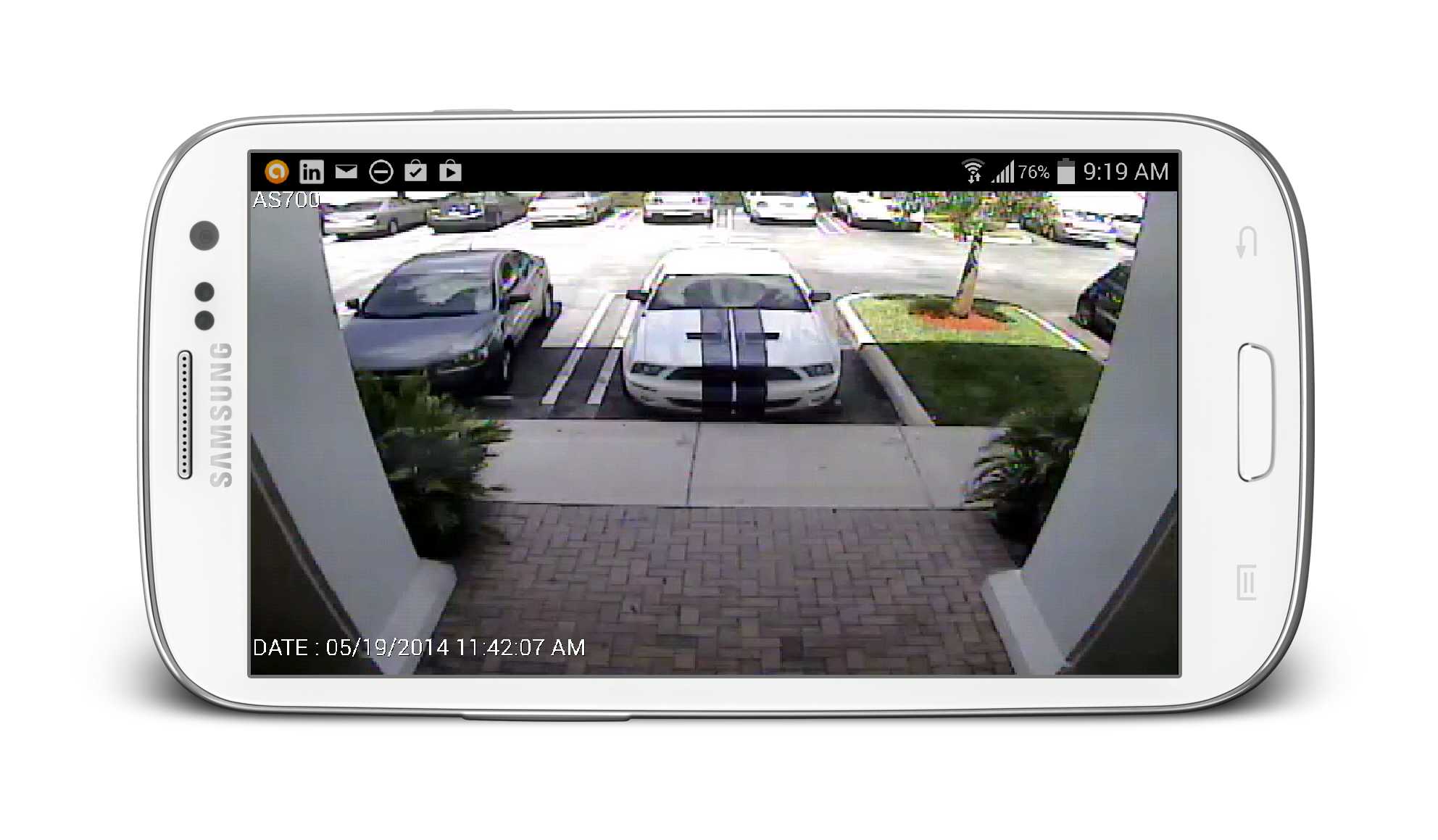 Portable png picture viewer. View security cameras from